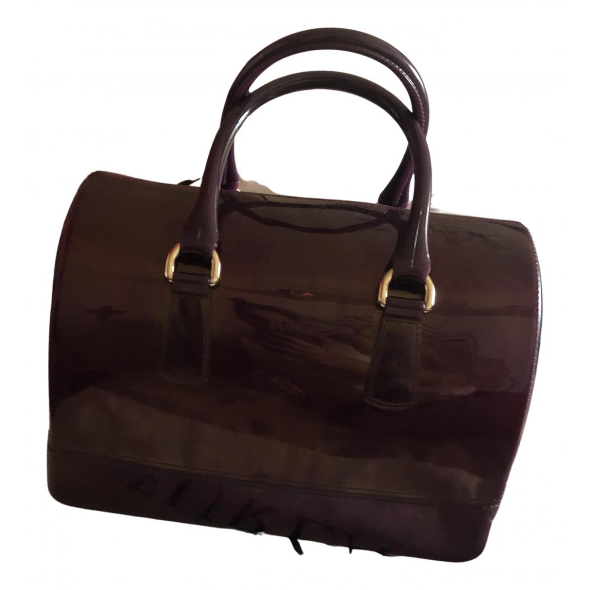 Furla Candy Bag Handtasche in  Bordeauxrot Kunststoff