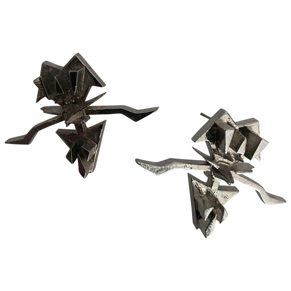 Eddie Borgo - Boucles doreilles   pour femme en metal - argente
