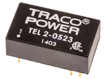 TRACOPOWER TEL 2 2W Isolated DC-DC Converter Through Hole, Voltage in 4.5 → 9 V dc, Voltage out ±15V dc