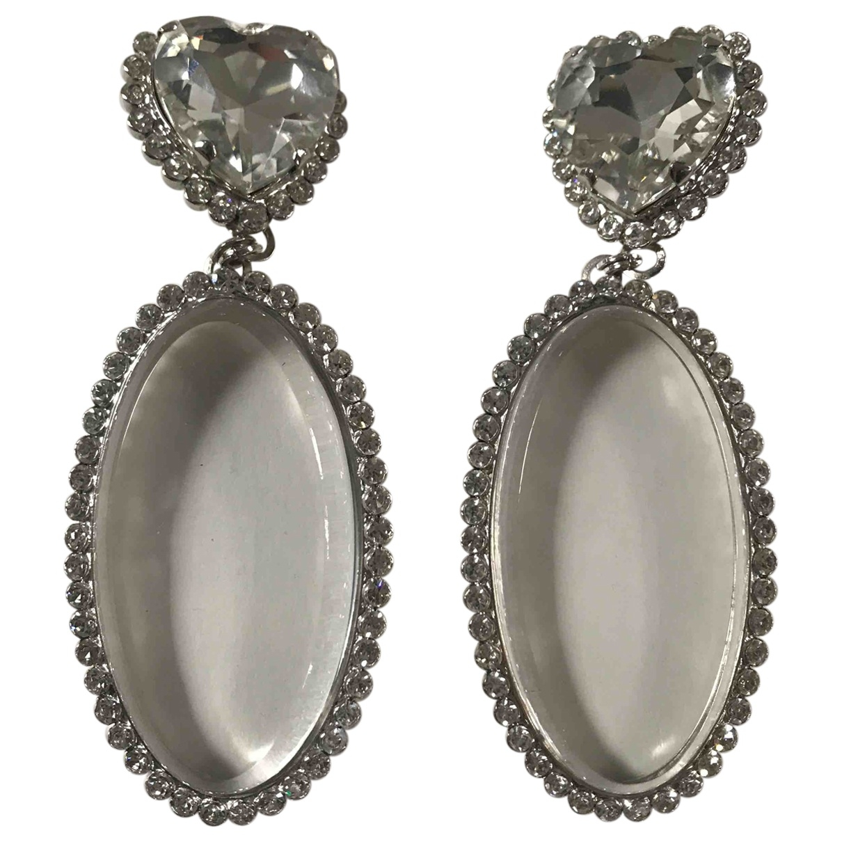 Alessandra Rich \N OhrRing in  Silber Kristall