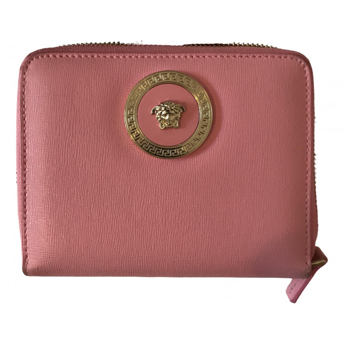 Versace \N Portemonnaie in  Rosa Leder