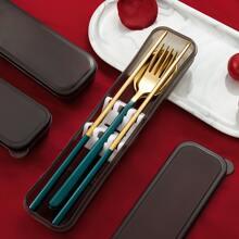 3 piezas set de cuchilleria portatil