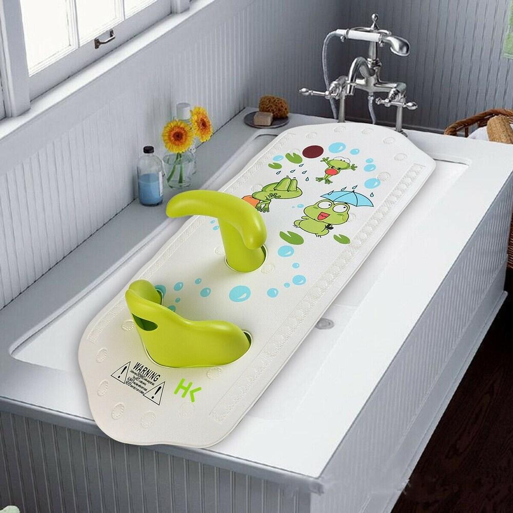 Baby bath mat with seat - M (Black)