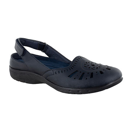 Easy Street Womens Meg Clogs, 7 Wide, Blue