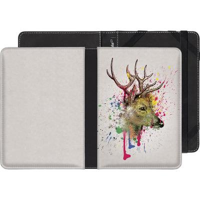 Pocketbook Touch Lux 2 eBook Reader Huelle - Splatter Deer von Mark Ashkenazi