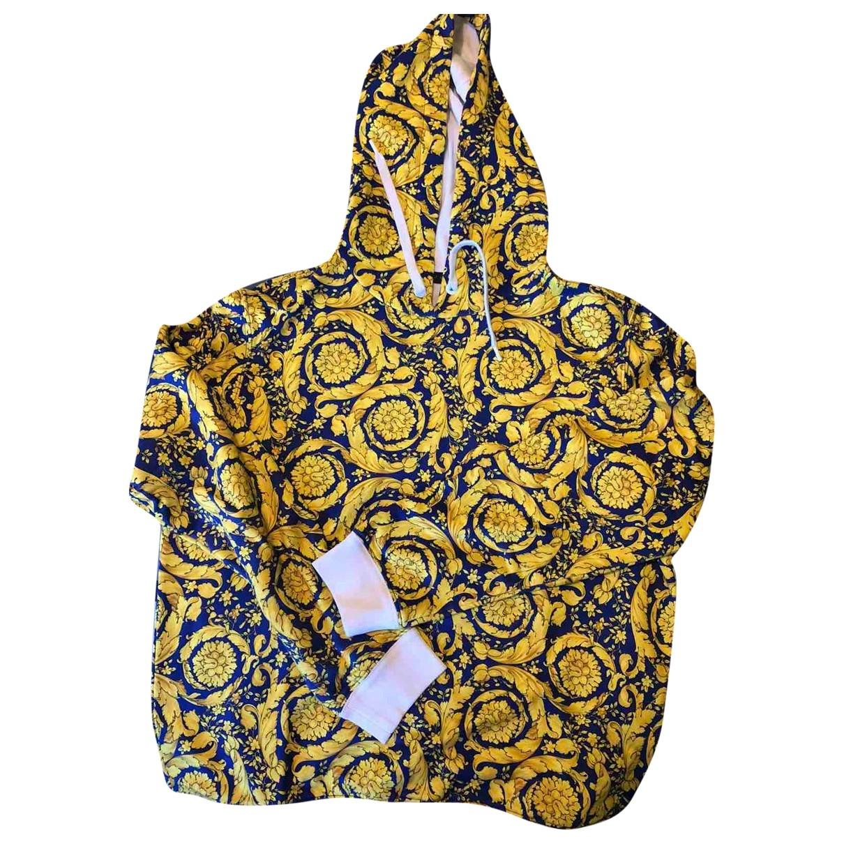 Gianni Versace \N Pullover.Westen.Sweatshirts  in  Gelb Baumwolle