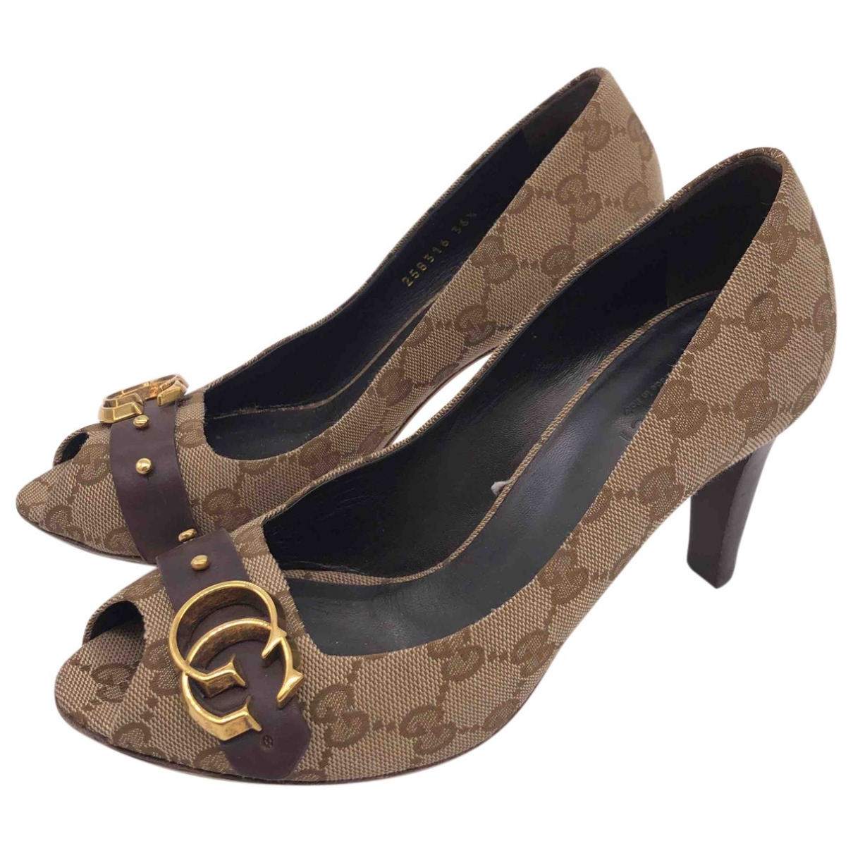 Gucci \N Brown Cloth Heels for Women 36.5 EU