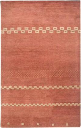 MOJMV316000700810 Mojave MV3160-8' x 10' Hand-Tufted 100% Hard-Twist Wool Rug in Light Rust  Rectangle