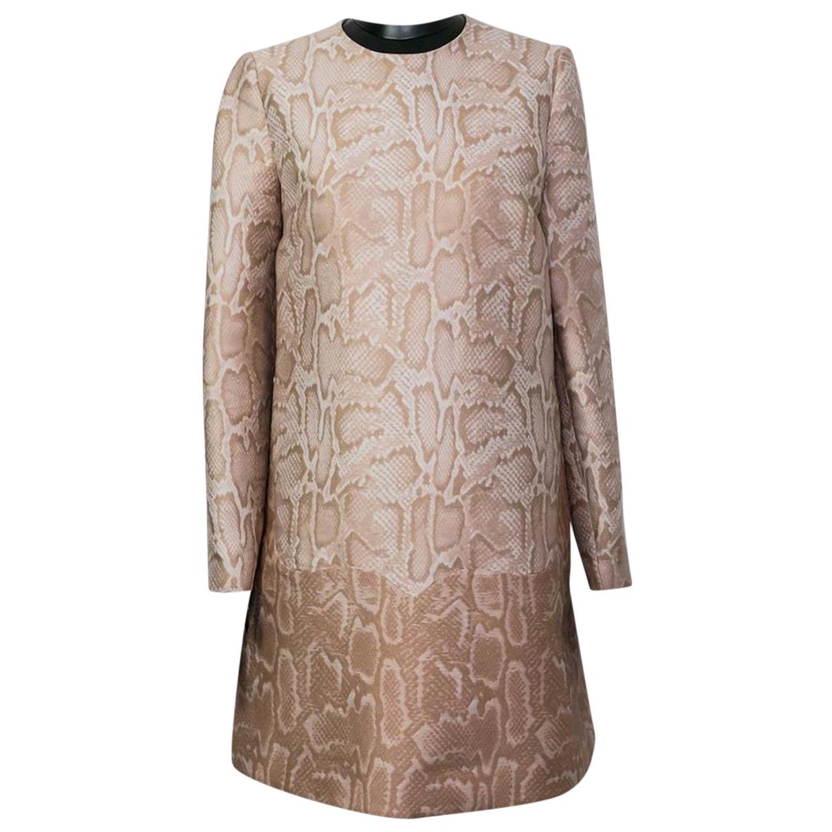 Stella Mccartney N Beige Silk dress for Women 36 FR