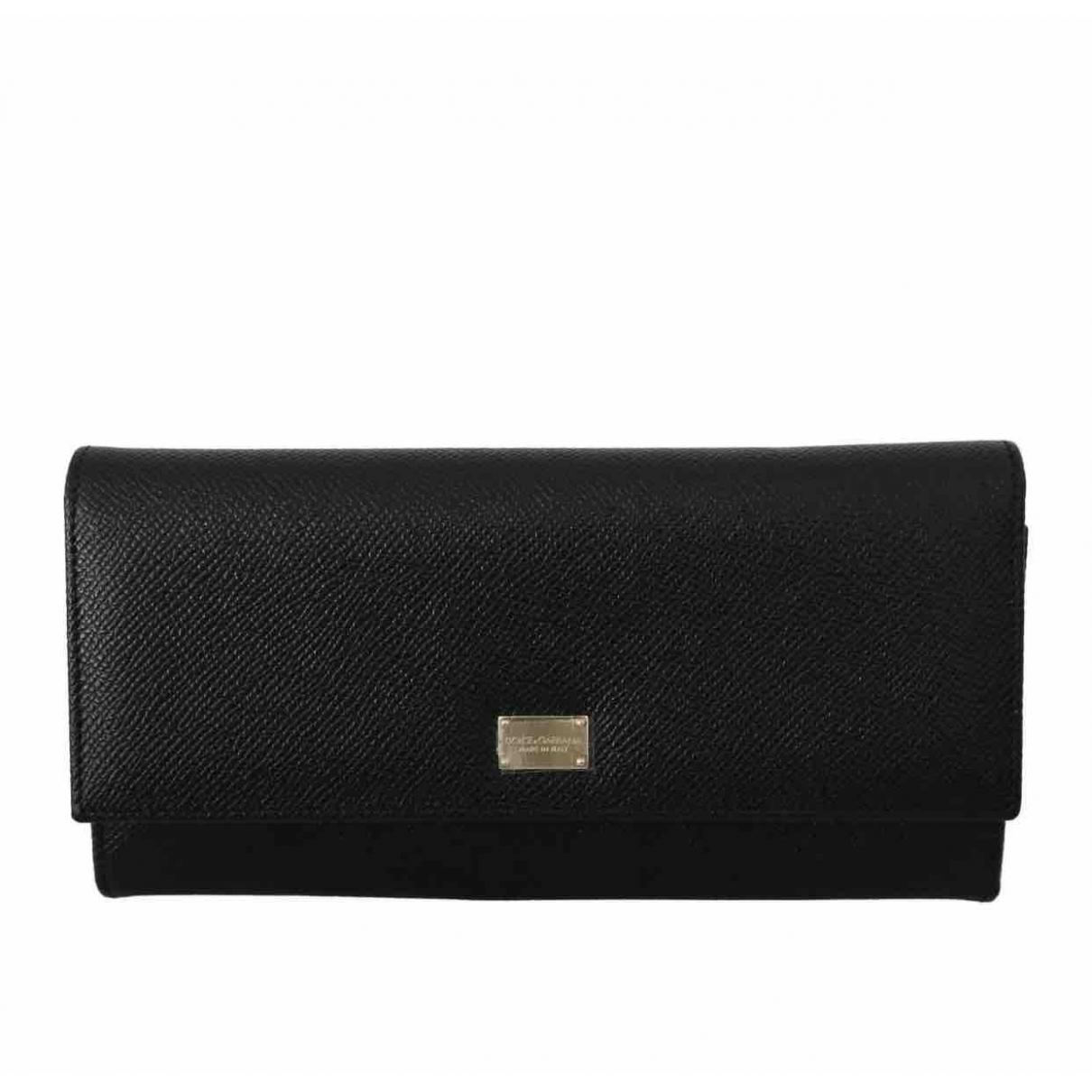 Dolce & Gabbana \N Black Leather Clutch bag for Women \N