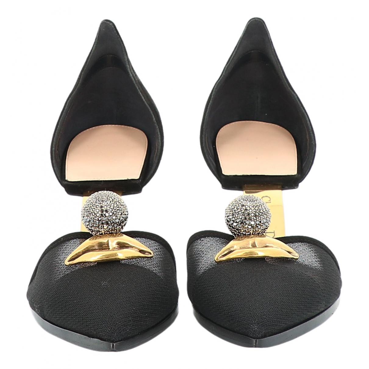 Dior \N Black Cloth Heels for Women 39 EU