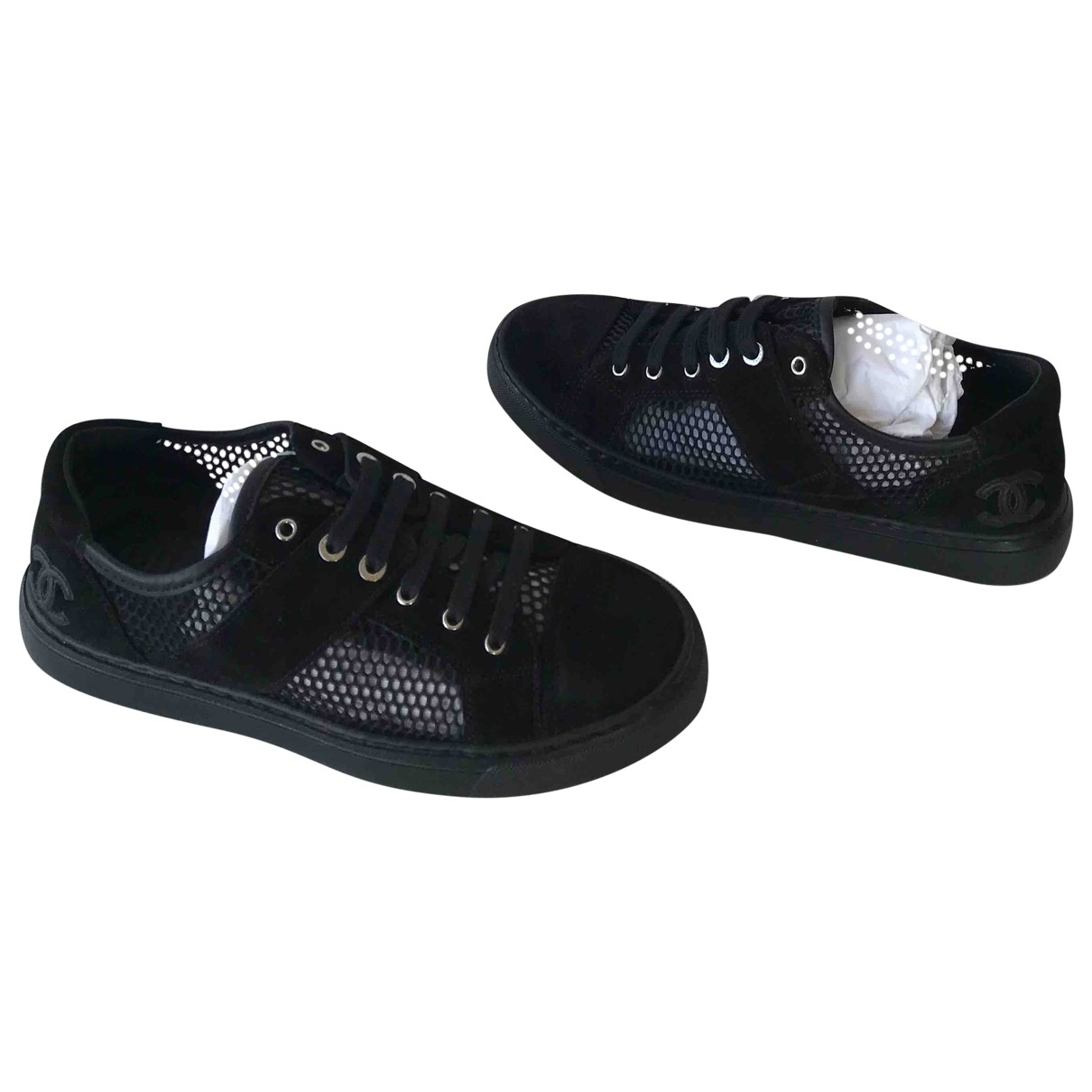Chanel \N Black Suede Trainers for Women 39 EU