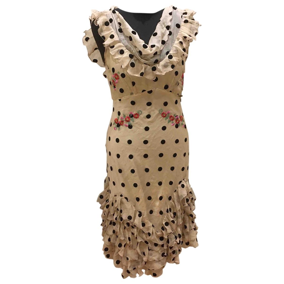 Galliano \N Kleid in  Bunt Seide