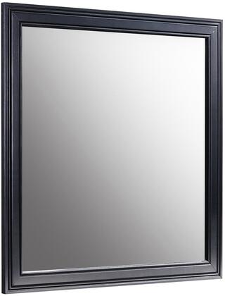 Verona Collection VE5706M 37 Mirror with Square Shape  Beveled Edge  Wood Trim  Solid Hardwood and Veneer Construction in Distressed Black