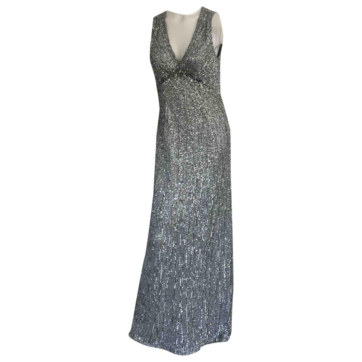 Jenny Packham \N Kleid in  Grau Mit Pailletten