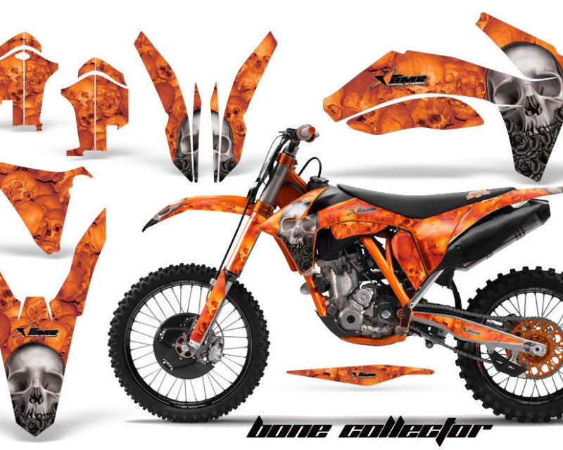 AMR Racing Dirt Bike Decal Graphics Kit Wrap For KTM SX/SX-F/XC/EXC/XFC-W 2011-2013áBONES ORANGE