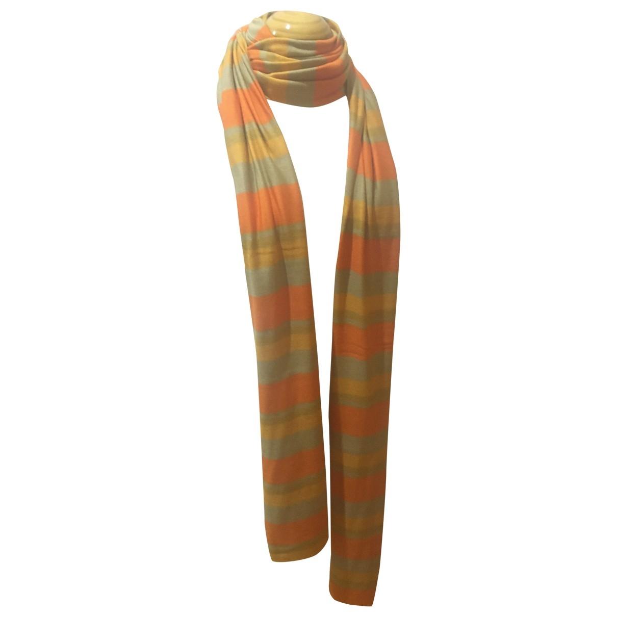 Loewe - Foulard   pour femme en soie - orange