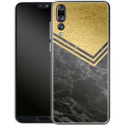 Huawei P20 Pro Silikon Handyhuelle - Gold Marble von caseable Designs