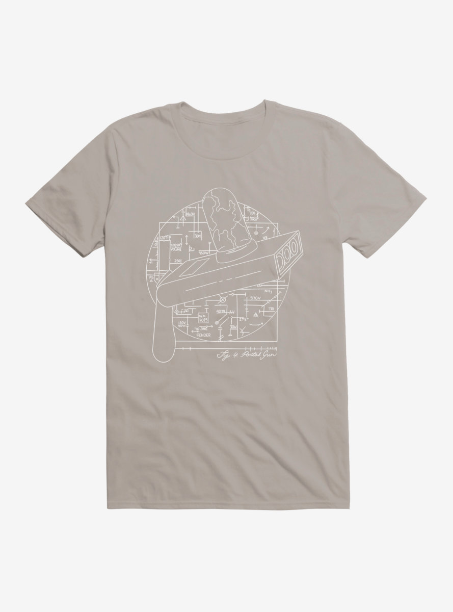 Rick And Morty Vitruvian Portal Gun T-Shirt