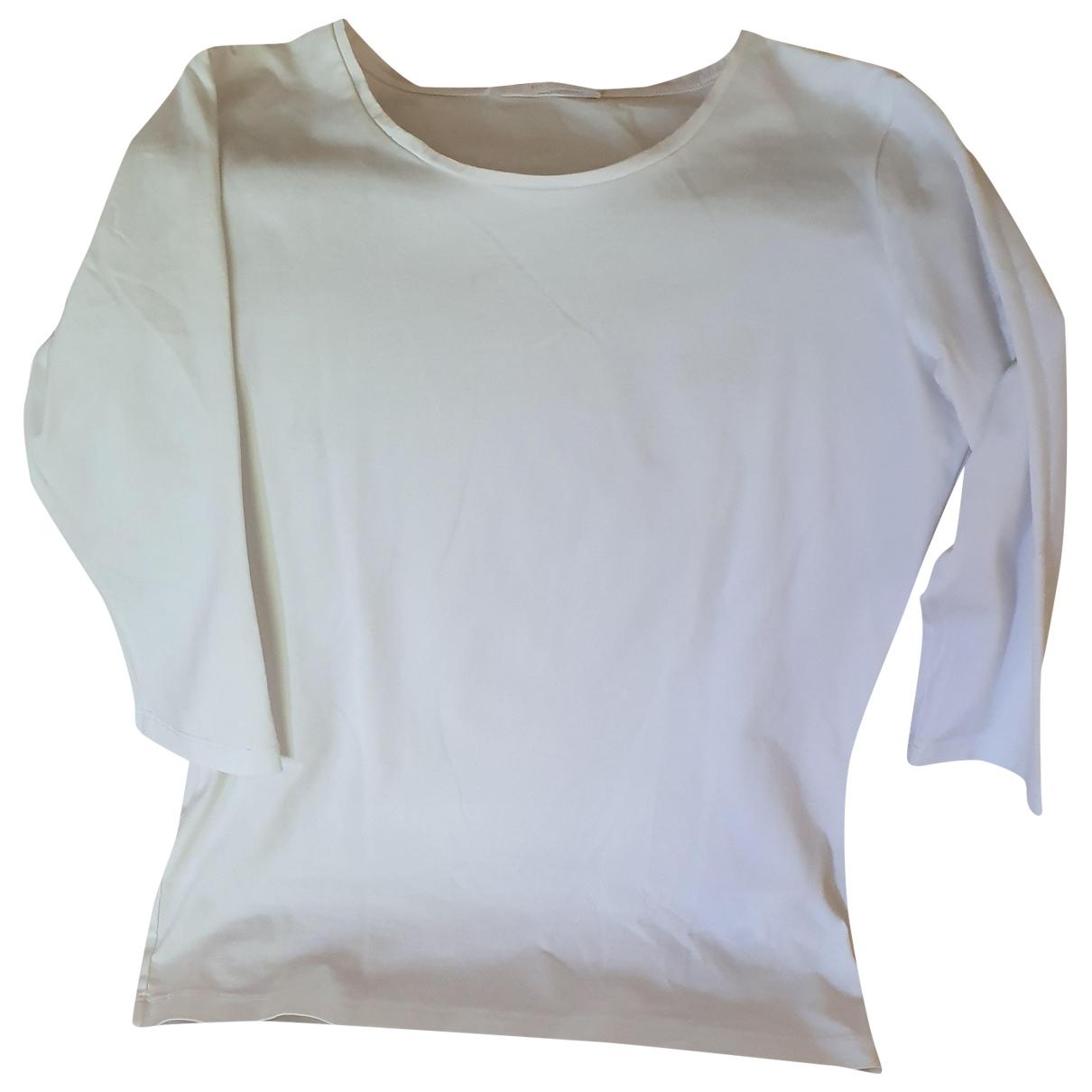 Boss - Top   pour femme en coton - blanc
