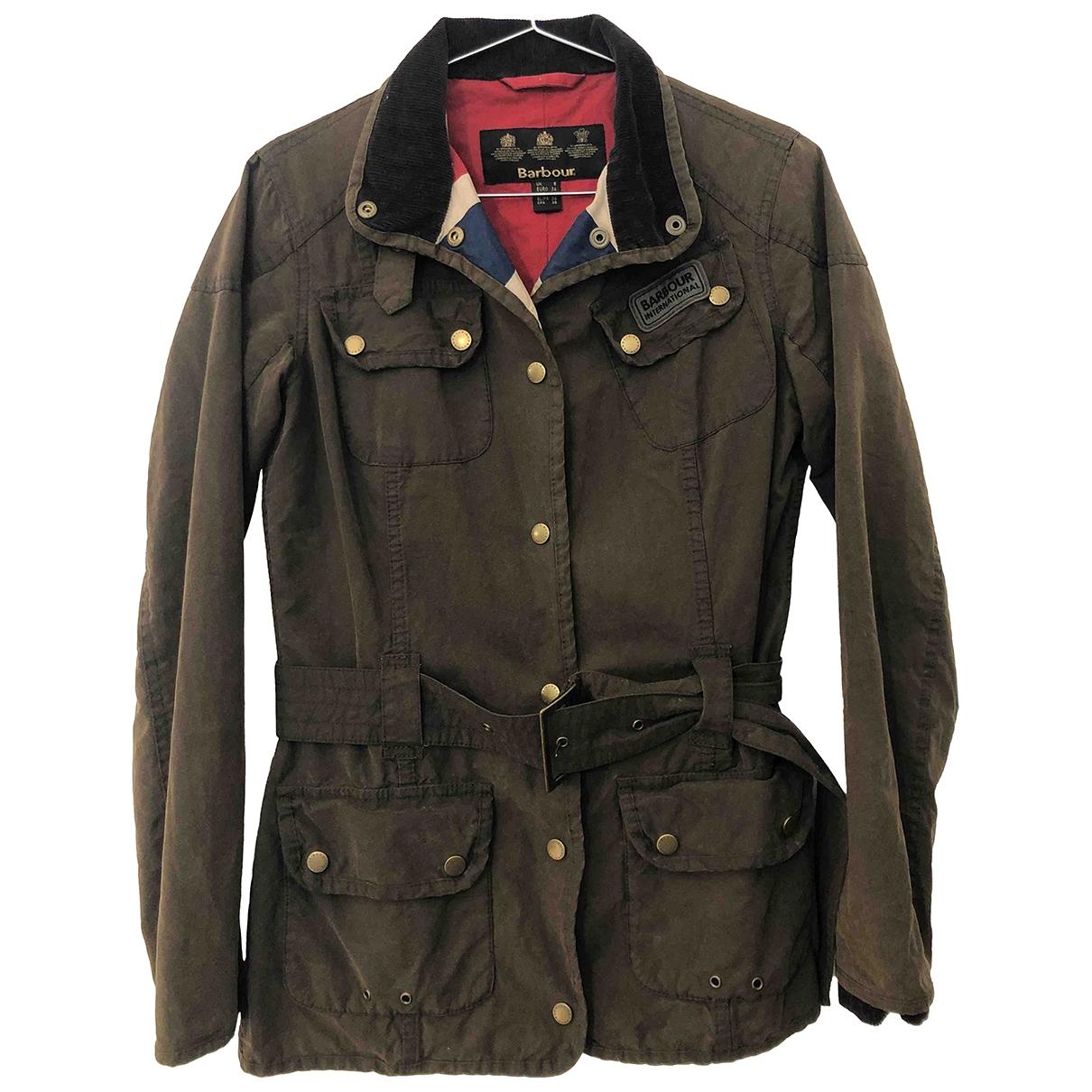 Barbour \N Brown Cotton coat for Women XS International