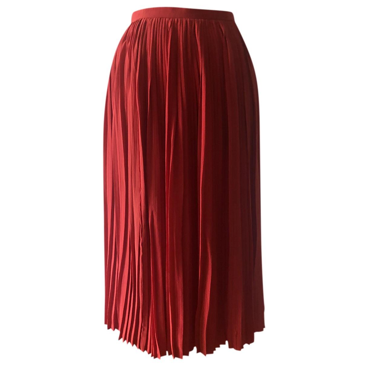 Falda midi de Seda Dior
