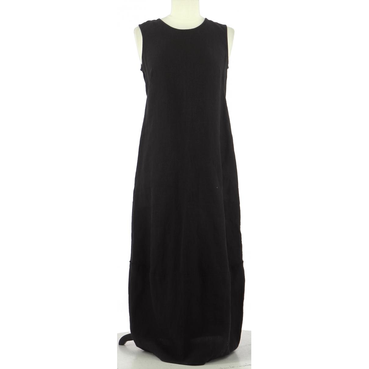 Autre Marque - Robe   pour femme en lin - noir