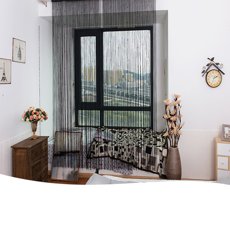 Simulation pearl Tassel Bedding Room and Porch Decorative String Sheer Curtain