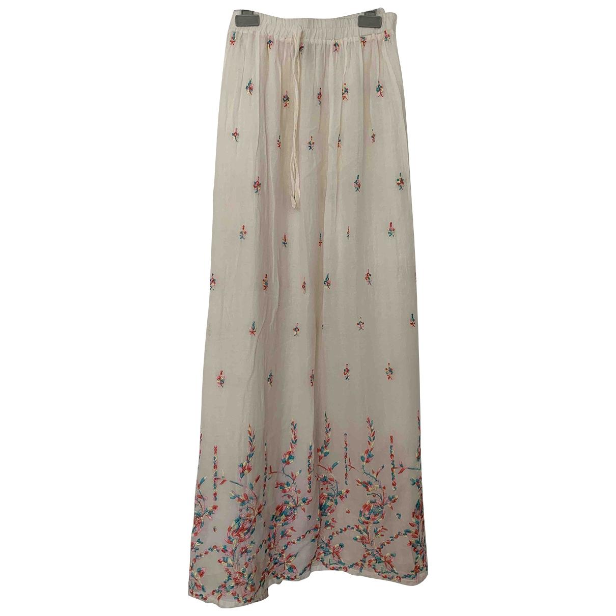 Bel Air - Jupe   pour femme en coton - ecru