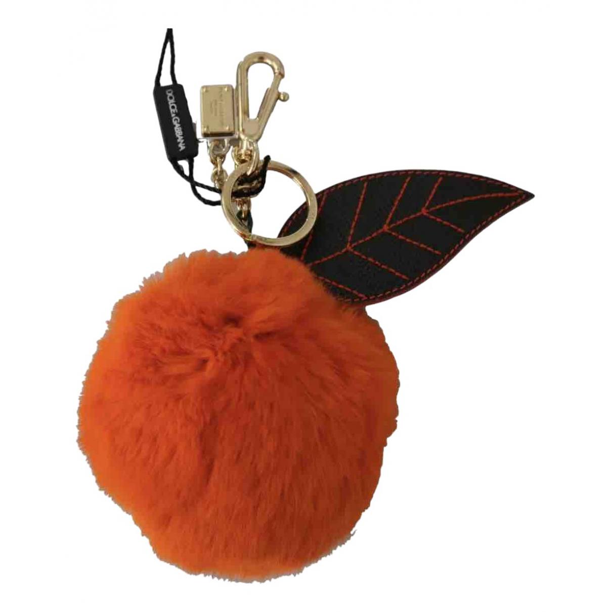 Dolce & Gabbana \N Taschenschmuck in  Orange Fell