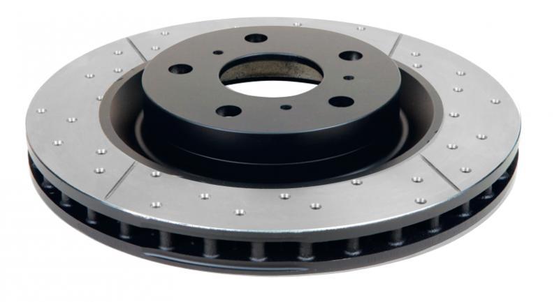 Disc Brakes Australia Street Series Rotor - Cross Drilled/Slotted Uni-Directional Rotor Chevrolet Corvette Front