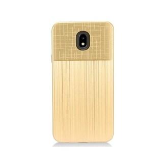 Insten Dual Layer Hybrid Brushed PC/TPU Rubber Case Cover for Samsung Galaxy J7 (2018)/J7 Refine/J7 Star/J7 V 2nd Gen (2018) (Gold)
