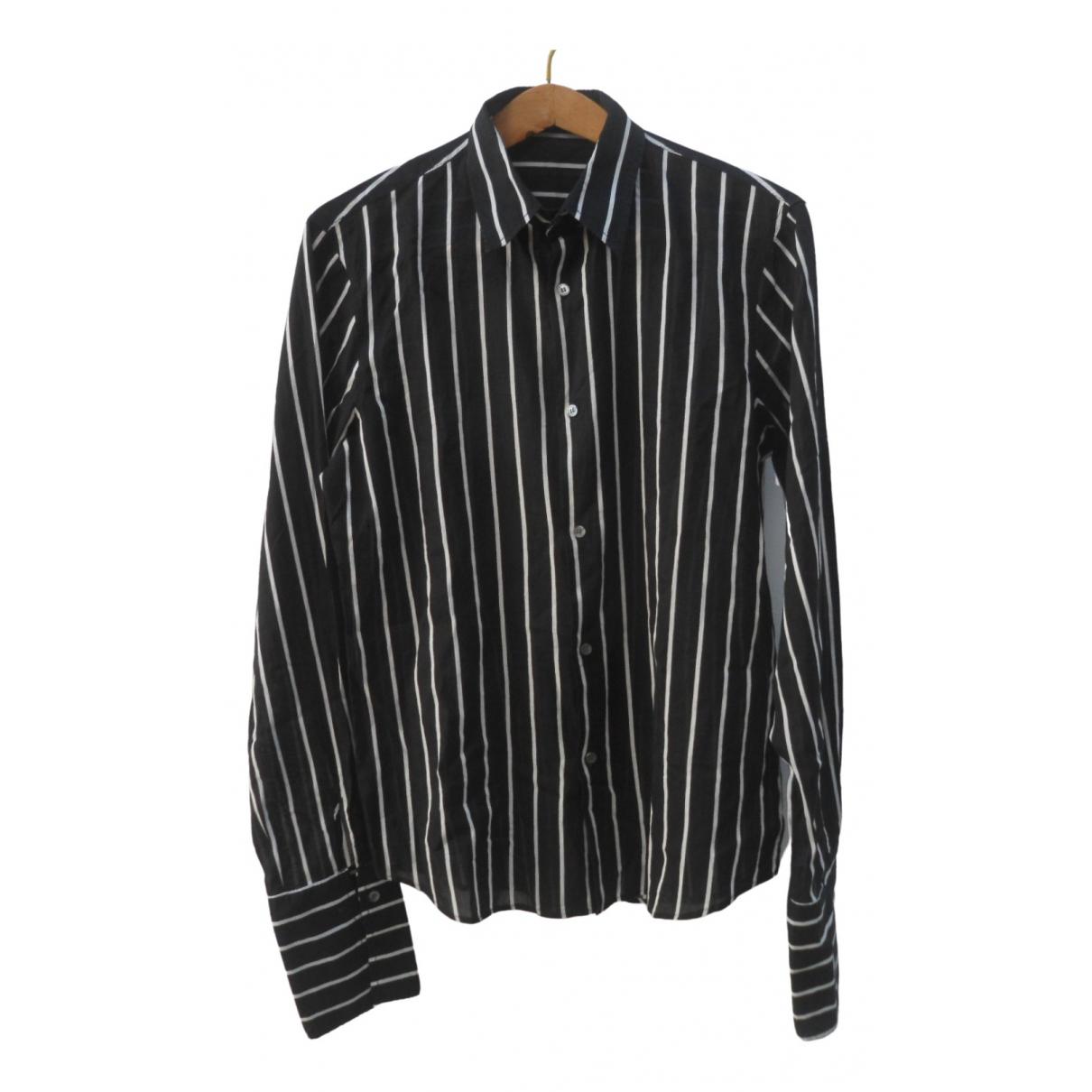 Costume National - Chemises   pour homme en coton - noir