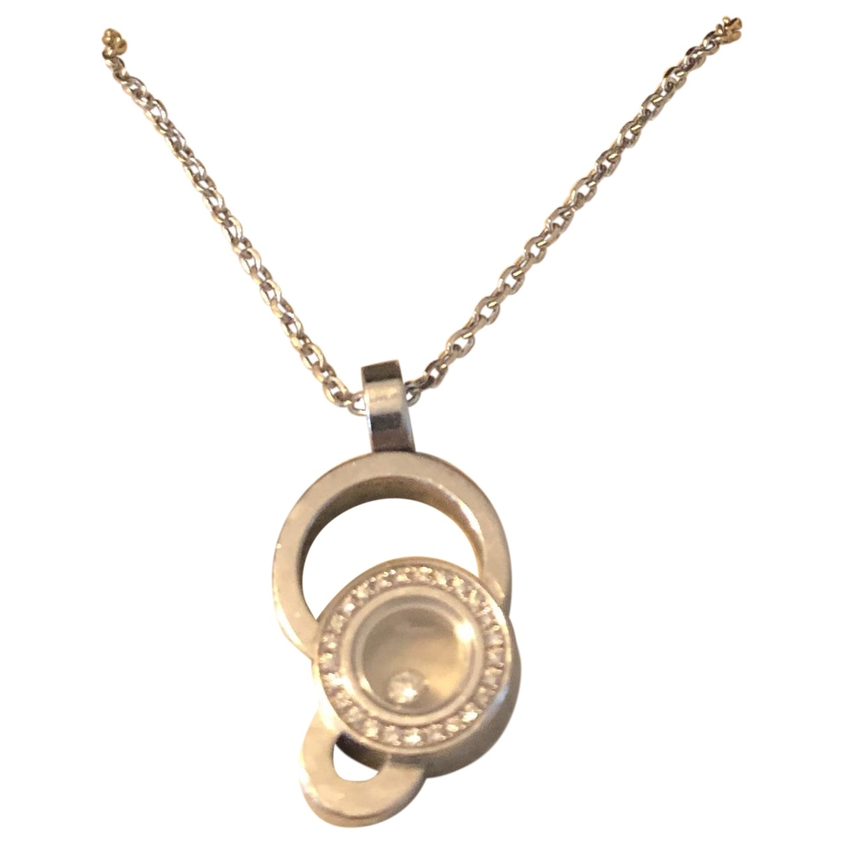 Chopard Happy Diamonds Silver White gold necklace for Women \N