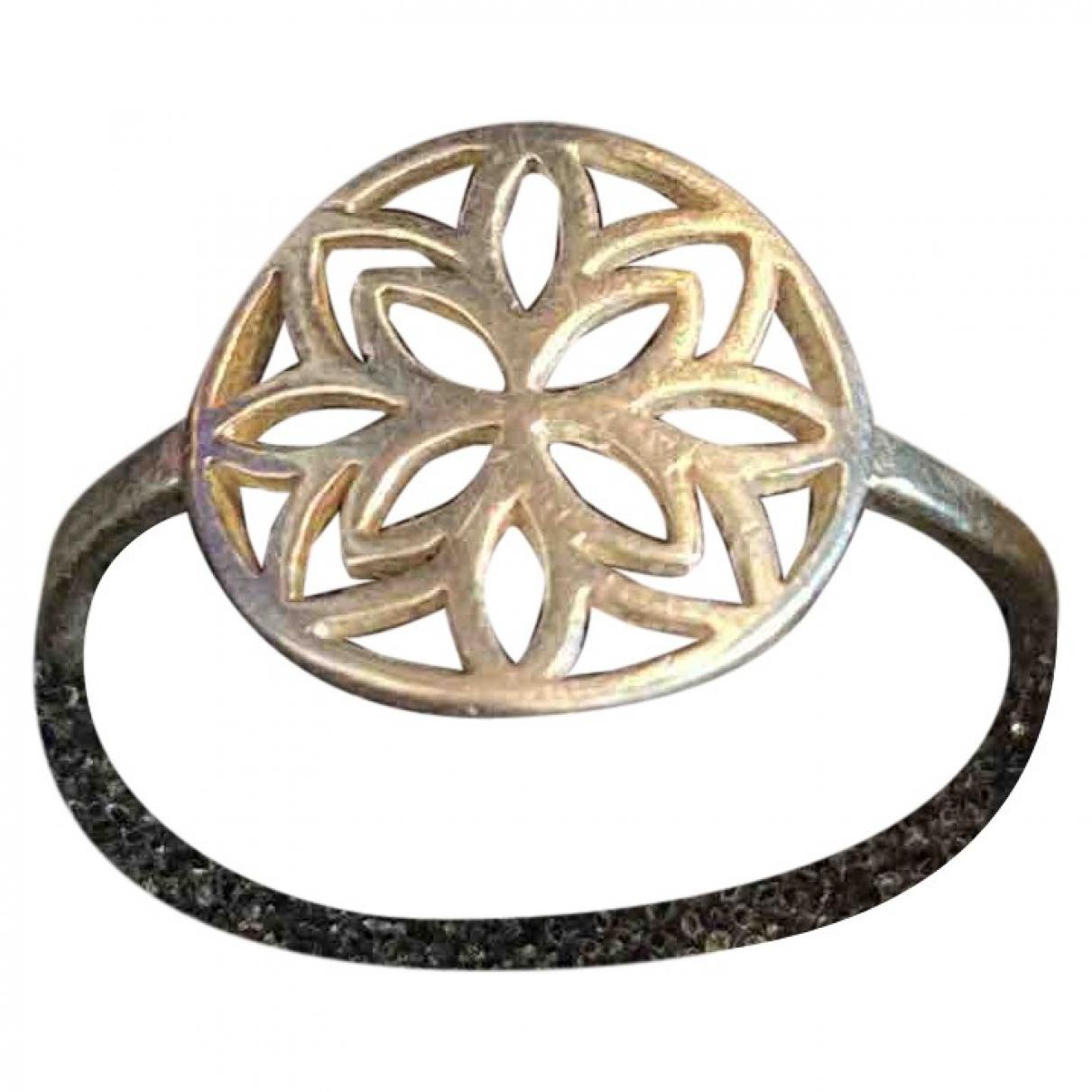 Non Signé / Unsigned Motifs Floraux Silver Silver ring for Women 54 EU
