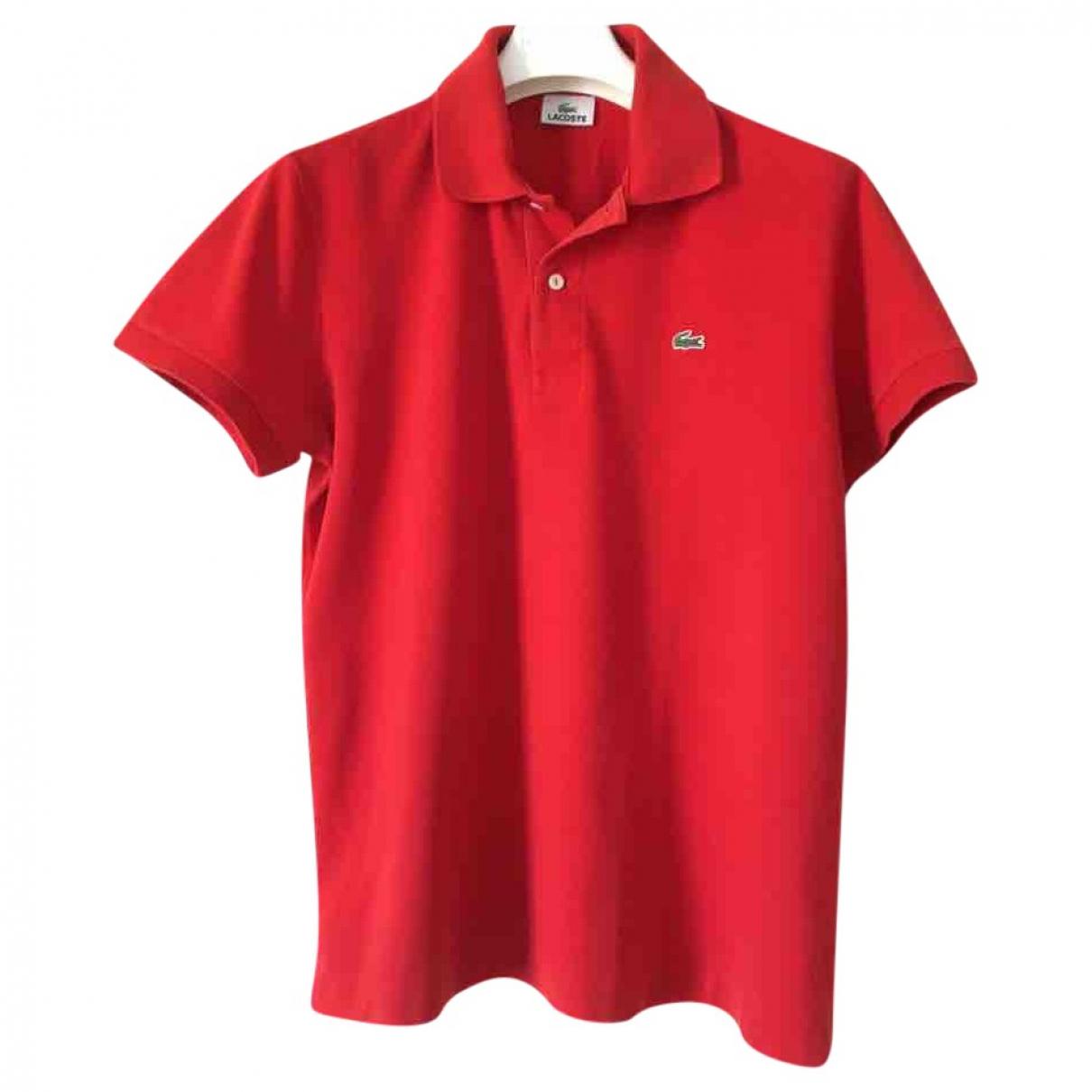 Lacoste - Polos   pour homme en coton - rouge