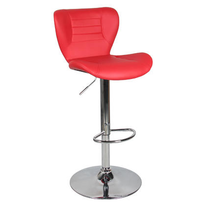 Adjustable Height Swivel Bar Stool - Moustache@ - 1/Pack, Red