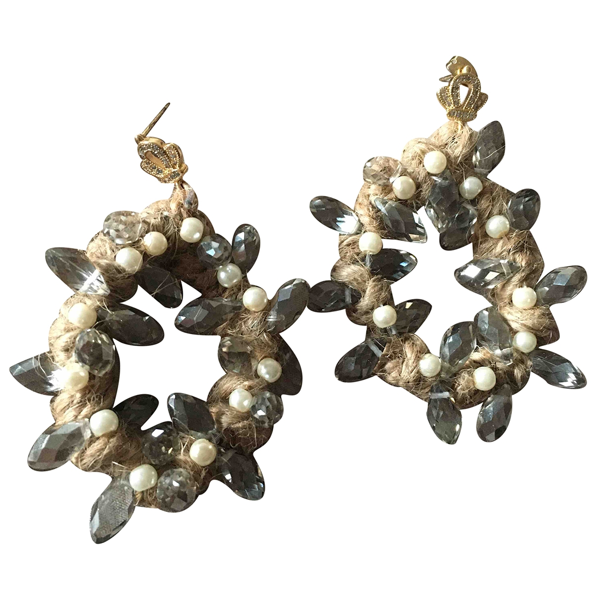 Non Signé / Unsigned \N Metal Earrings for Women \N
