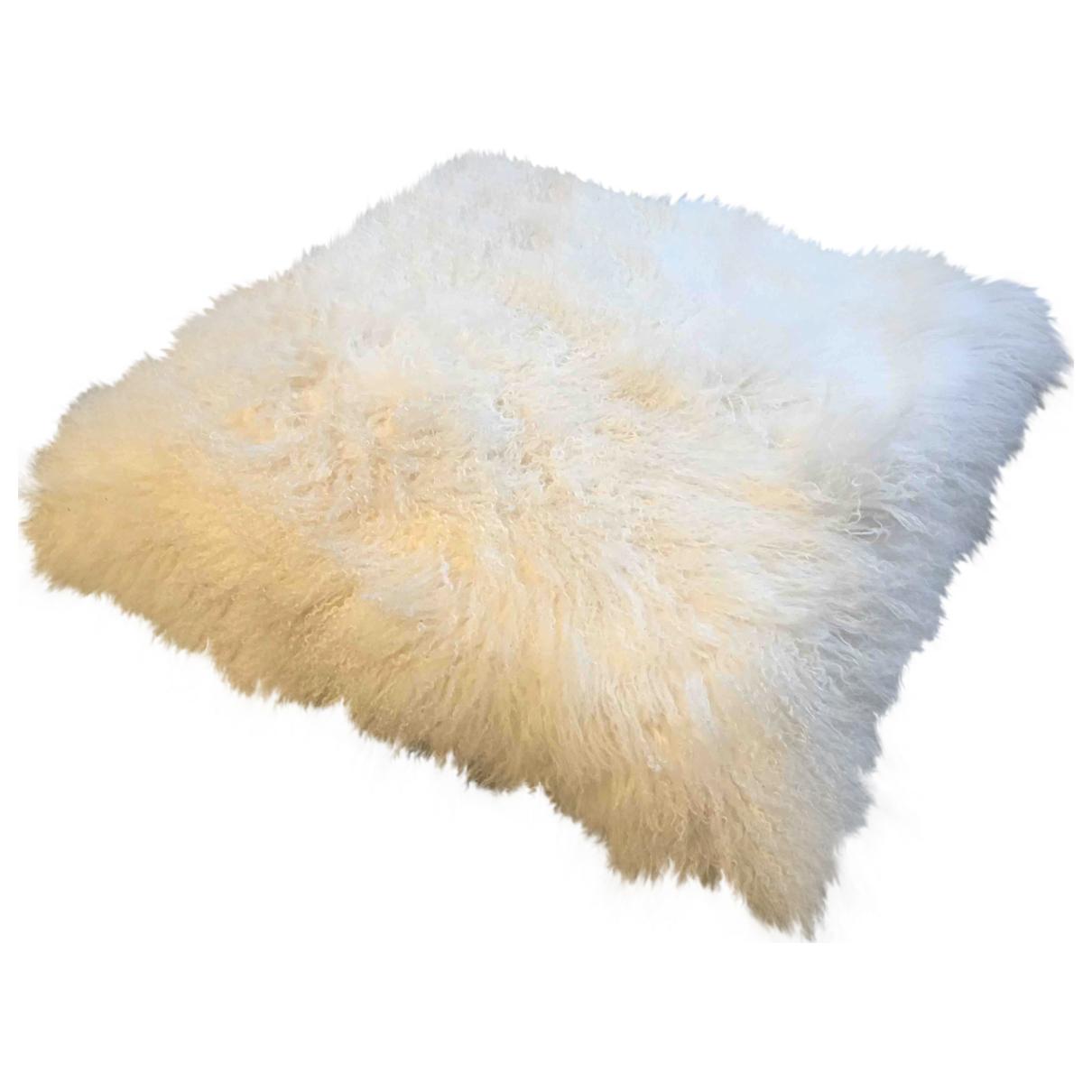 - Objets & Deco   pour lifestyle en agneau de mongolie - ecru