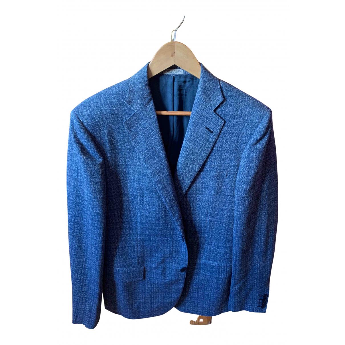 Bottega Veneta - Costumes   pour homme en laine - bleu