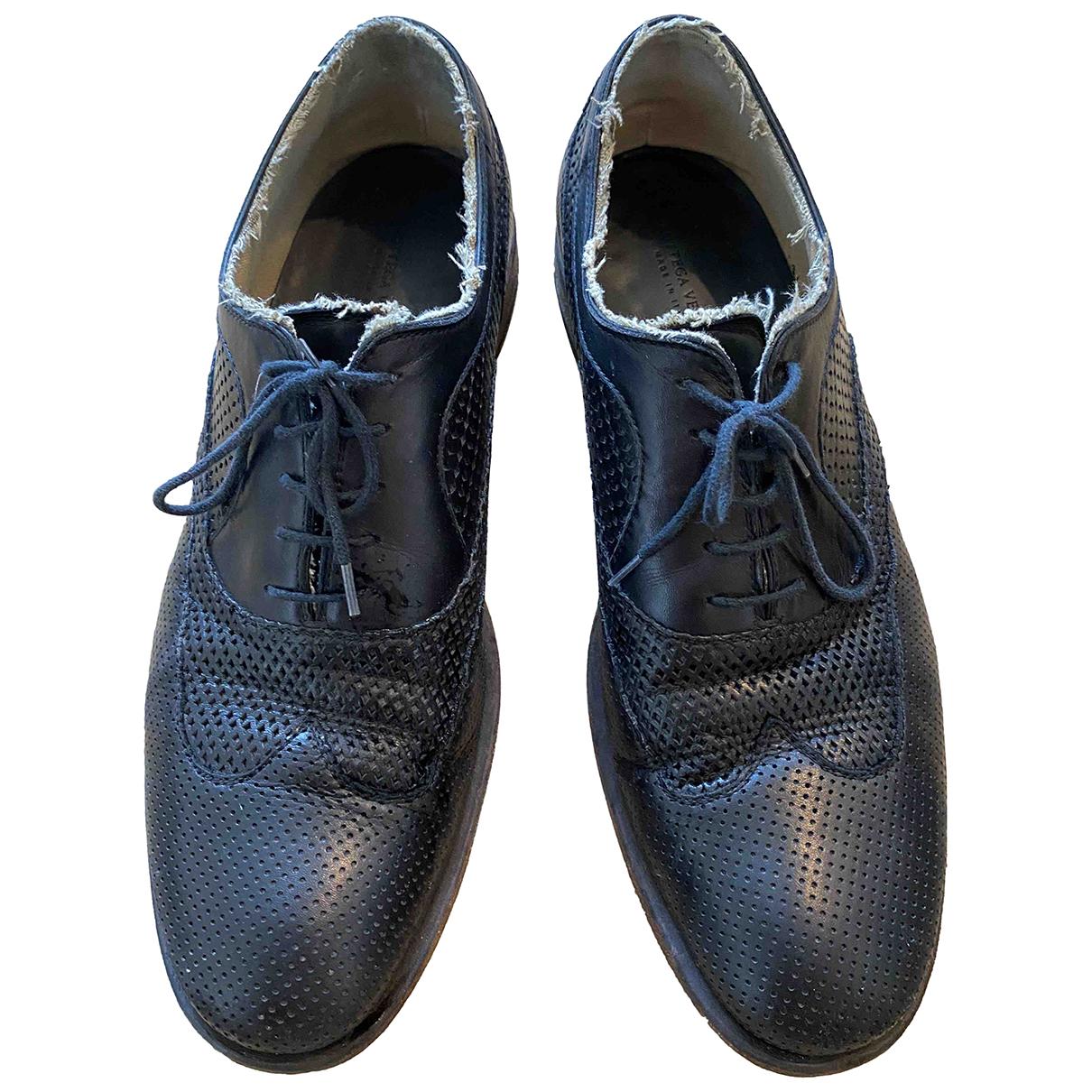 Bottega Veneta \N Black Leather Lace ups for Men 43 EU