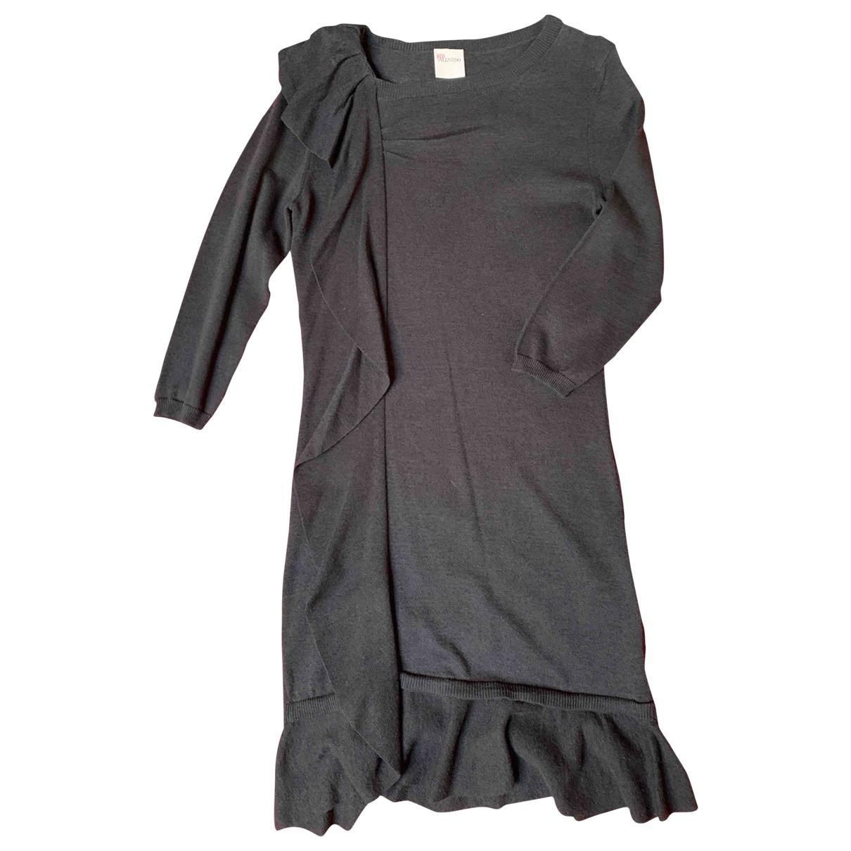 Red Valentino Garavani \N Kleid in  Blau Wolle