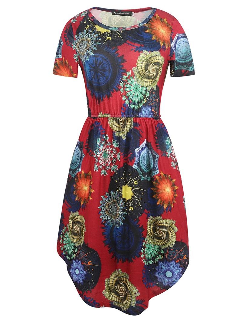 Ericdress A-Line Print Women's Dress