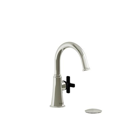 Momenti MMRDS01XPNBK-05 Single Hole Lavatory Faucet with x Cross Handle 0.5 GPM  in Polished