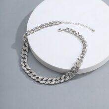 Maenner Halskette mit Strass