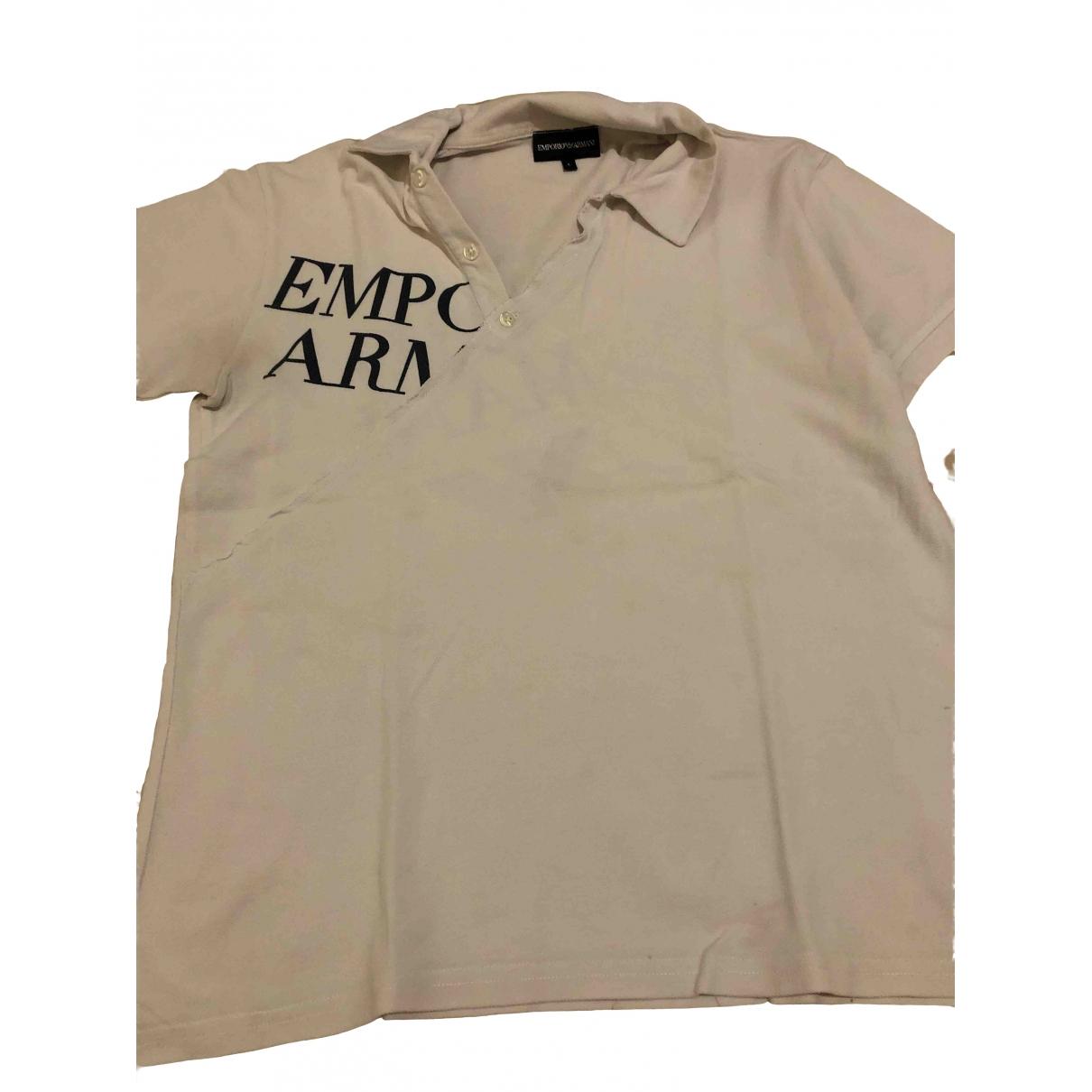 Emporio Armani - Polos   pour homme en coton - blanc