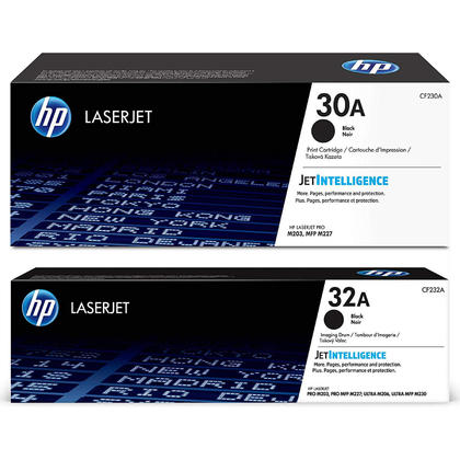 HP 30A CF230A HP 32A CF232A Original Toner Cartridge and Drum Combo