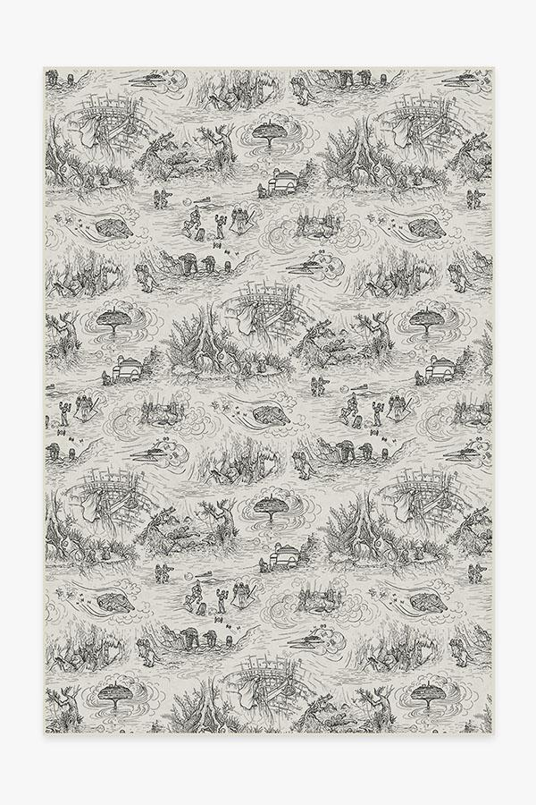 Washable Rug Cover | Star Wars Toile White Rug | Stain-Resistant | Ruggable | 6x9