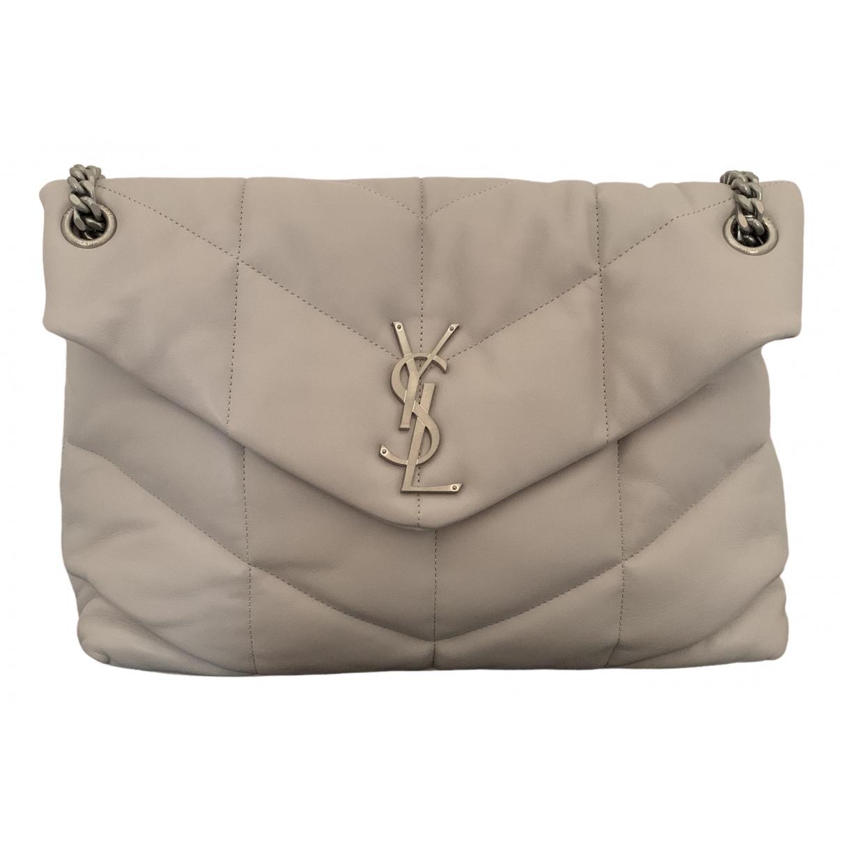 Saint Laurent Loulou Grey Leather handbag for Women \N