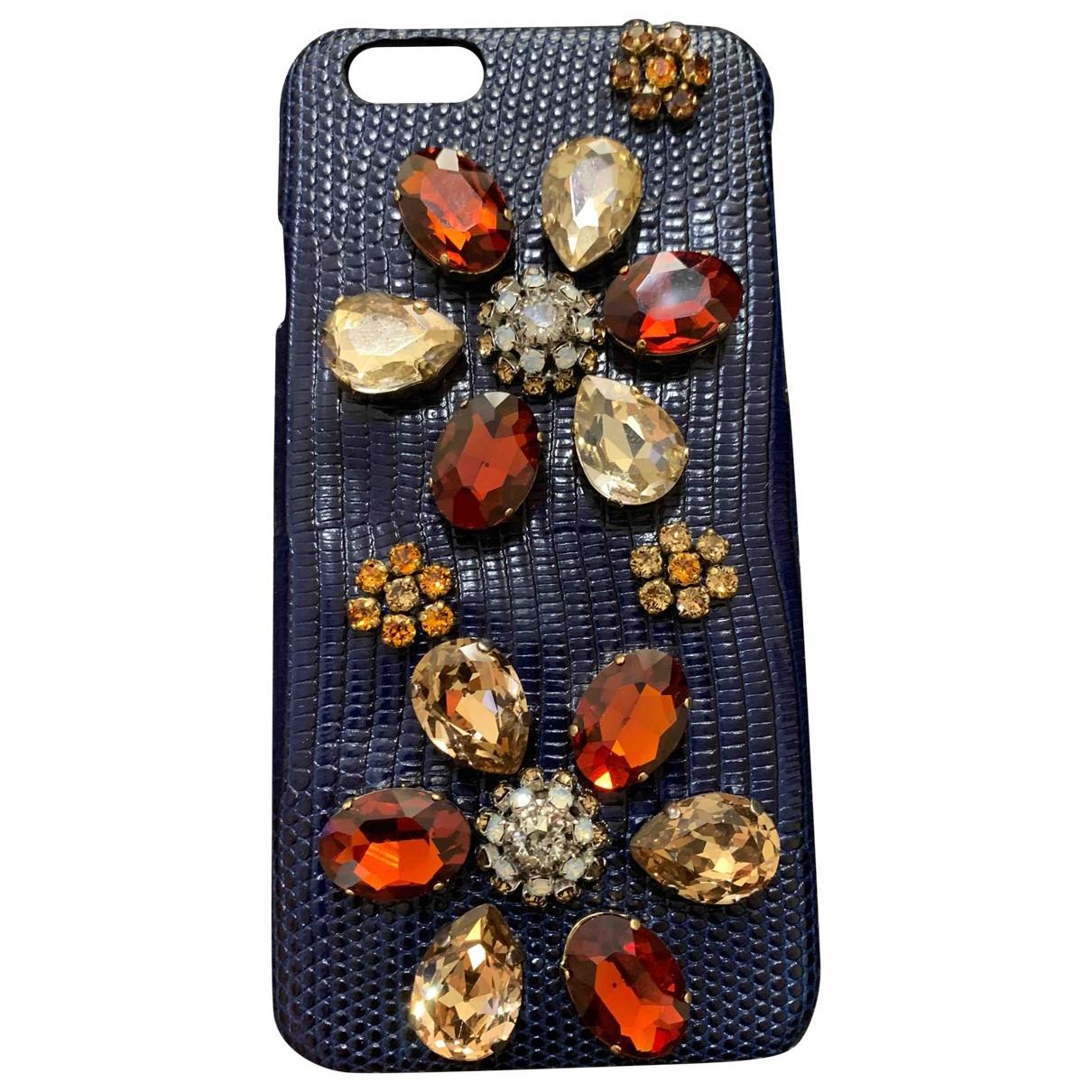 Dolce & Gabbana - Accessoires   pour lifestyle en cuir - bleu